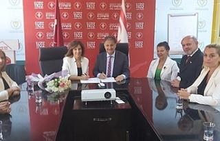 Kuzey Kıbrıs Lions Kulüpleri Federasyonu heyeti,...