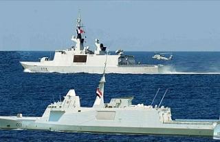 Mısır Ordusu Akdeniz'de Fransa ile yaptığı...