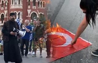 Selanik'te aşırı sağcı göstericiler Türk...