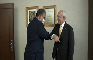Sucuoğlu, Ankara'da CHP Genel Başkanı Kemal Kılıçdaroğlu'yla...