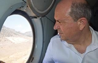 Tatar, yangın helikopterini inceledi