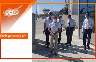 Bakanlar Kurulu sonrası Ercan'da inceleme