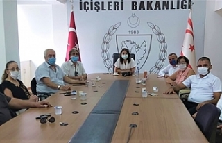 Baybars, Lefkoşa Muhtarlar Birliğini kabul etti