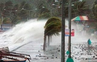 Çin'de etkili olması beklenen Hagupit tayfunu...