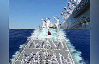 Deniz Harp Okulu öğrencileri KKTC'yi selamladı
