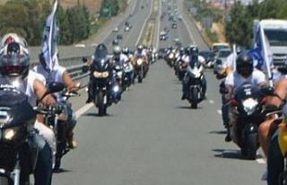 Derinya olayları için 90 motosikletçiden eylem