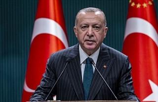"""Erdoğan: """"Sabrın, gayretin ve inancın bir..."""