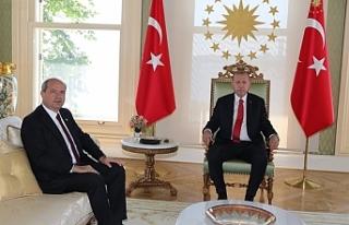 Erdoğan-Tatar görüşmesi sona erdi. Görüşme...
