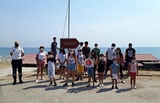 Girne Belediyesi Çocuk Meclisi üyeleri Gazimağusa'daki...