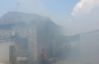 Haspolat'ta mobilya fabrikasında yangın çıktı