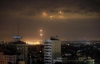 İsrail Gazze'de Hamas'a ait bazı noktaları...