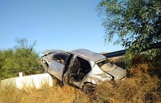 Lefkoşa - Güzelyurt Anayolunda kaza...4 kişi...