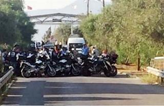Rum motosikletçiler metehan sınır kapısında eylem...