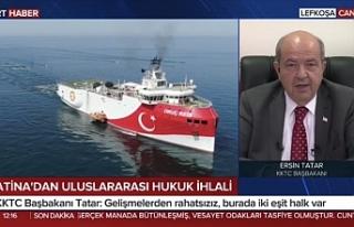 "Tatar: ""Yunanistan, Rum tarafı ve Fransa, Kıbrıs'ta..."