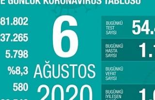 Türkiye'de iyileşenlerin sayısı 220 bin 546'ya...