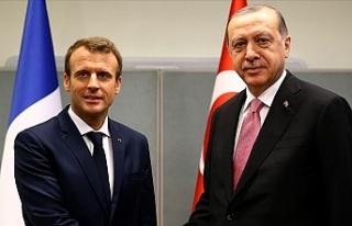 Erdoğan Fransa Cumhurbaşkanı Macron ile telefonda...