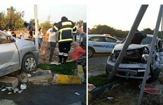 Girne'de kaza...9 yaralı