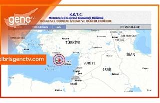 Kıbrıs'ın kuzeybatısında deprem