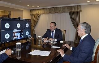 Akıncı, BM Genel Sekreteri ile video konferans görüşmesi...