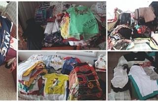 Bağışlanan kıyafetler satışa sunulacak