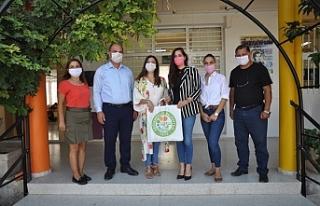 Bölge okullarına maske dağıtıldı