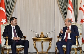 Cumhurbaşkanı Tatar, Bakan Kurum'u kabul etti