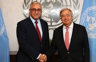 Guterres, Dördüncü Cumhurbaşkanı Akıncı'ya...