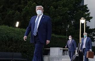 Koronavirüs tedavisi devam eden Trump'ın Oval...