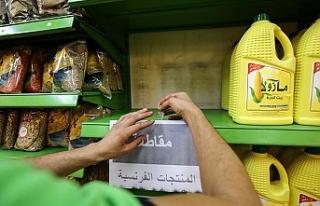 Kudüs'teki marketler Fransız mallarının satışını...