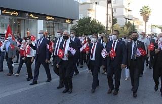 Lefkoşa'da 29 Ekim yürüyüşü