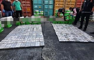 Mersin Uluslararası Limanı'nda 220 kilogram...