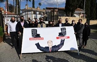 Cumhurbaşkanlığı önünde protesto eylemi