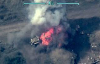Ermenistan'ın tank ve topları imha edildi