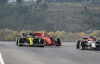 Formula 1 Türkiye Grand Prix'sinde ikinci antrenman...