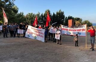 Girne Avcılık ve Atıcılık Klübü'nden protesto...