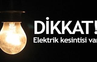 Haspolat ve Değirmenlik bölgelerinde elektrik kesintisi