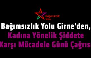 """""""Kadına şiddete karşı 25 Kasım'da yürüyelim!"""""""
