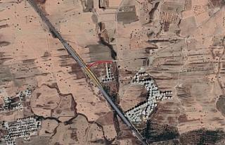 Lavinium Sitesinde anayol üzerinden geçiş yolu...