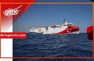 Oruç Reis sismik araştırma gemisi Antalya Limanı'na...