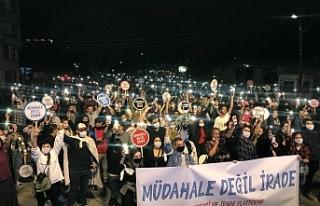 """Rum partilerden """"Demokrasi ve İrade Yürüyüş""""..."""