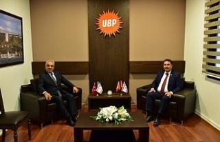 Saner, DSP Genel Başkanı Aksakal ile biraraya geldi