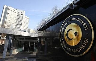 """Türkiye Dışişleri Bakanlığı: """"KKTC'nin..."""