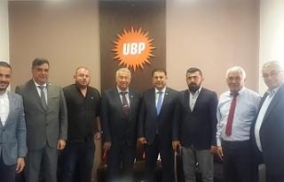 UBP Belediye Başkanlarından Saner'e destek