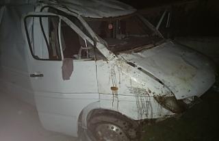 Araç takla attı, 1 kişi yaralandı