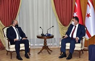 Büyükelçi'den Başbakan Saner'e ziyaret