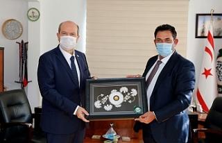 Cumhurbaşkanı Tatar'dan Çatalköy ziyareti