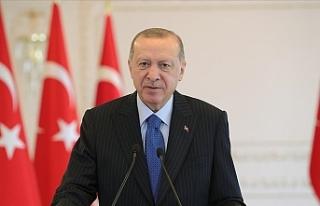 Erdoğan, Saner'e kutlama mesajı gönderdi