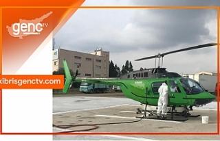 Helikopter ile Havadan Biyolojik Çam Kese Böceği...