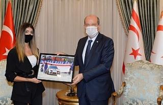 Tatar, drift sporcusu Ülkü Erçoban'ı kabul etti