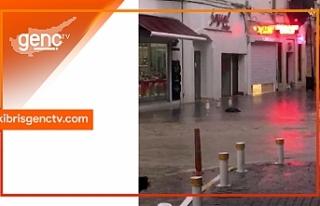 Yağışlar Girne'de etkili oldu